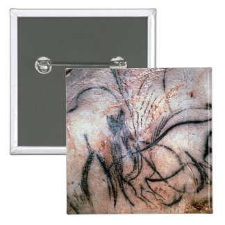 Paintings depicting mammoth and cattle, from the C 2 Inch Square Button