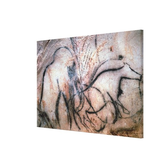 Paintings depicting mammoth and cattle, from the C Canvas Print
