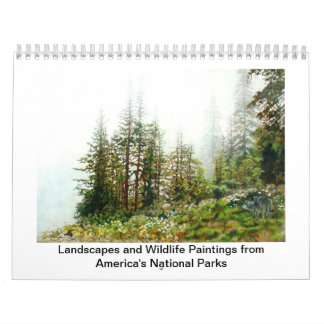 Paintings from America's National Parks Calendar