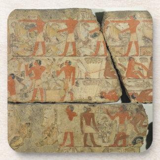 Paintings from the Tomb of Metjetji from Saqqara Drink Coaster