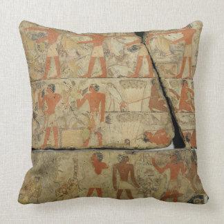Paintings from the Tomb of Metjetji from Saqqara Throw Pillow