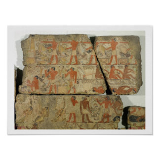 Paintings from the Tomb of Metjetji, from Saqqara, Poster