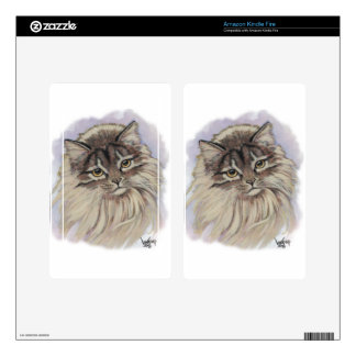 paintings of cats kindle fire skin