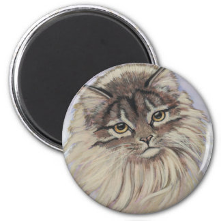 paintings of cats 2 inch round magnet