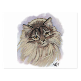 paintings of cats postcard