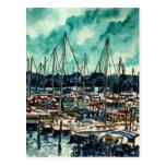 paintings of sailboats sailor sailing art post card