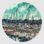 paintings of sailboats sailor sailing art sticker