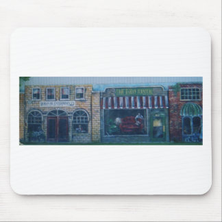 paintings on old building(In okla) Mouse Pad