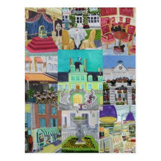 Paintings/Peintures of Fontainebleau,FRANCE Postcard