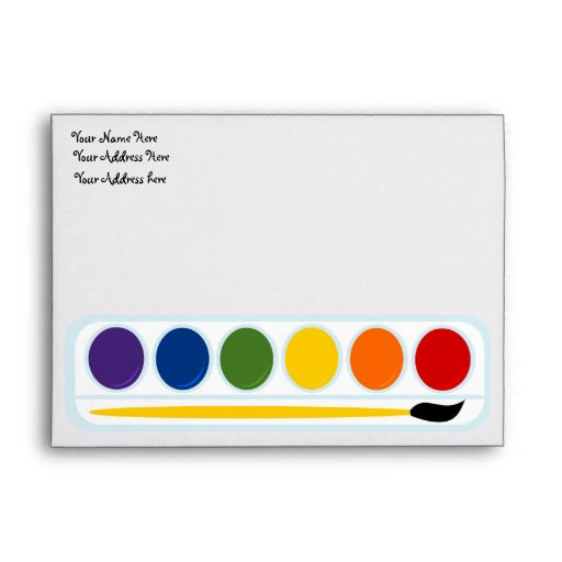 Paints and Brushes Envelopes