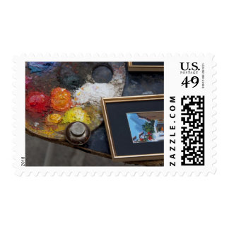 Paints and paintings in historic Santa Cruz Stamps