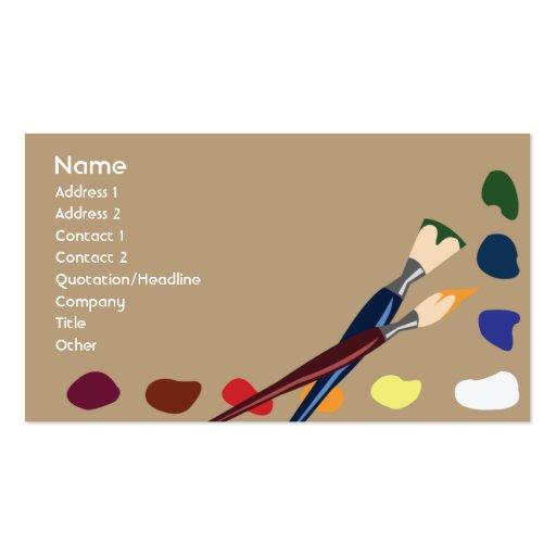 Paint Business Card Templates