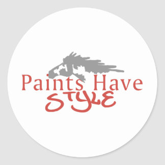 Paints Have Style Round Stickers