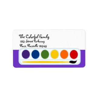 Paints Personalized Address Label