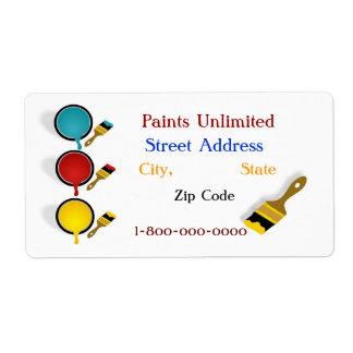 Paints Unlimited Label