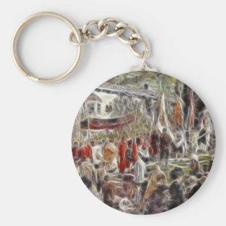 Paintz1 Basic Round Button Keychain