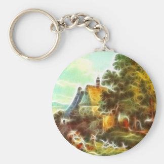 Paintz3 Basic Round Button Keychain