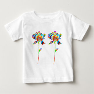 Pair Beautiful FLOWERS Tee Shirt