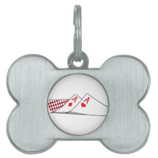 Pair Of Aces Pet Name Tags