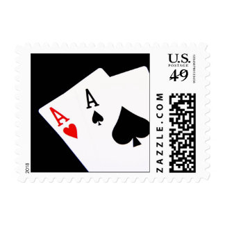 Pair of Aces Postage