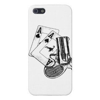 Pair of aces with pistol iPhone SE/5/5s cover