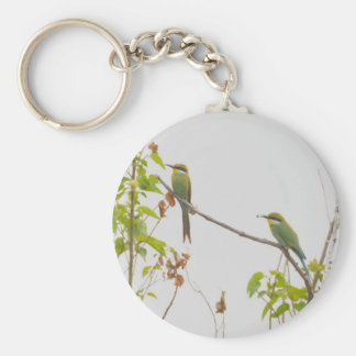 Pair Of African Bee Eaters Tom Wurl Keychain