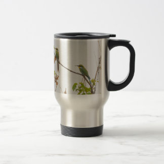 Pair Of African Bee Eaters Tom Wurl Travel Mug