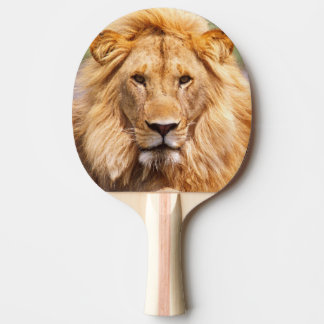 Pair of African Lions, Panthera leo, Tanzania Ping-Pong Paddle