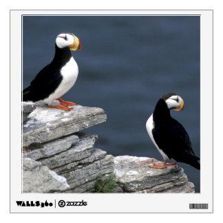 Pair of Alaska Puffin Birds Wall Sticker