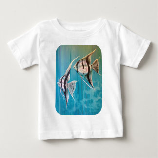 Pair of angel fish oil painting number 1 baby T-Shirt