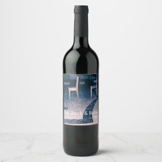 Pair of Antique Chairs in a Room Retro Furniture Wine Label