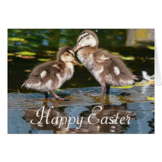 Pair of Baby Ducks Easter Greeting Card