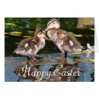 Pair of Baby Ducks Easter Greeting Greeting Card