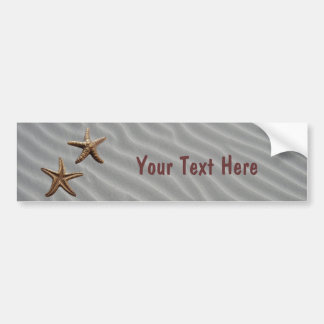 Pair of Brass Starfish Car Bumper Sticker