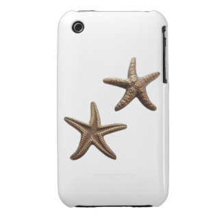 Pair of Brass Starfish iPhone 3 Case-Mate Cases