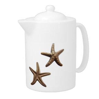 Pair of Brass Starfish Teapot