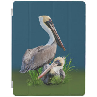 Pair of Brown Pelicans Customizable iPad Cover
