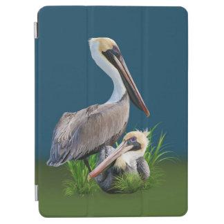 Pair of Brown Pelicans Customizable iPad Air Cover