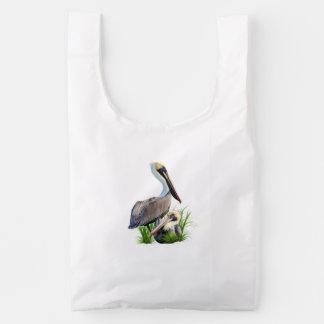Pair of Brown Pelicans Customizable Reusable Bag