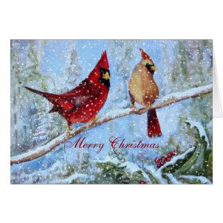 Pair of Cardinals, Card