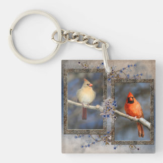 Pair of Cardinals Double sided Key Chain