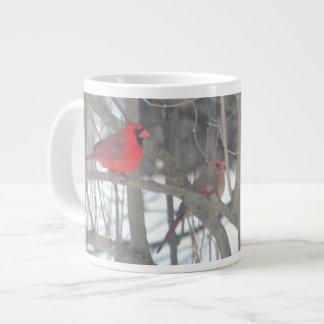 Pair of Cardinals Large Coffee Mug