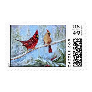 Pair of Cardinals Postage