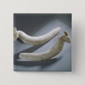 Pair of castanets, Thinite Period (hippopotamus iv Pinback Button