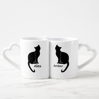 Pair of cats love mug couples' coffee mug set