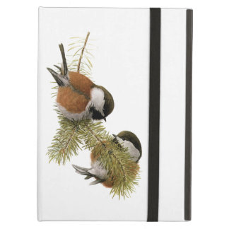 Pair of Chestnut-backed Chickadee on Pine Tree iPad Air Case