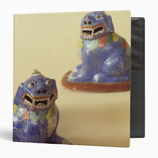 Pair of Chinese cloisonne dogs, 18th century 3 Ring Binder