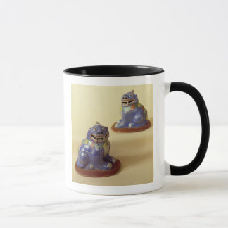 Pair of Chinese cloisonne dogs, 18th century Mug