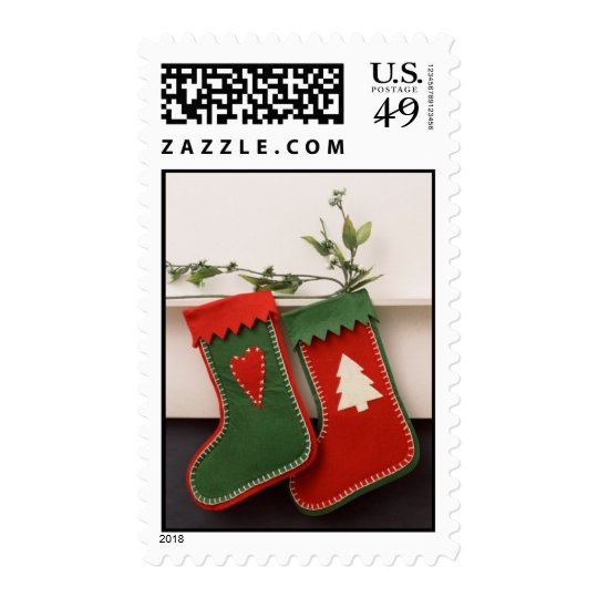 Pair of Christmas Stockings Postage