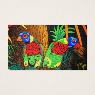 Pair of Colorful Parakeets Business Card